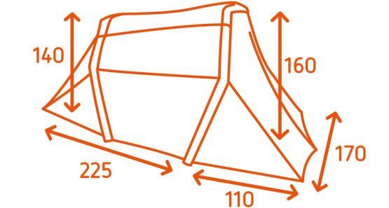 FestiTent 2P Dimensions