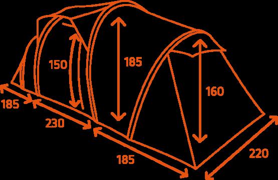 4P FestiTent Dimensions